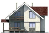 Проект кирпичного дома 71-44 фасад