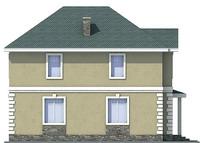 Проект кирпичного дома 71-45 фасад