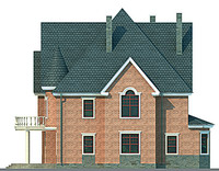 Проект кирпичного дома 71-47 фасад