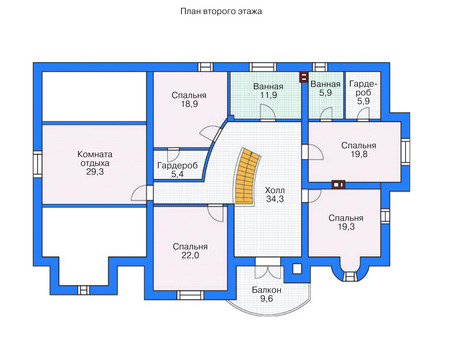 Проект кирпичного дома 71-47 план