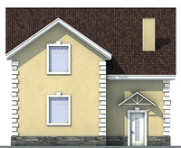 Проект кирпичного дома 71-50 фасад