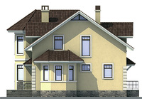 Проект кирпичного дома 71-52 фасад