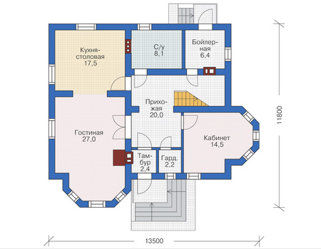 Проект кирпичного дома 71-52 план