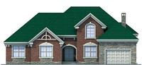 Проект кирпичного дома 71-54 фасад