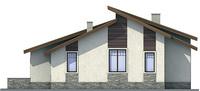 Проект кирпичного дома 71-55 фасад