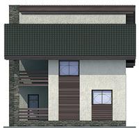 Проект кирпичного дома 71-56 фасад