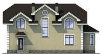 Проект кирпичного дома 71-57 фасад