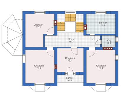 Проект кирпичного дома 71-57 план