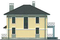 Проект кирпичного дома 71-58 фасад