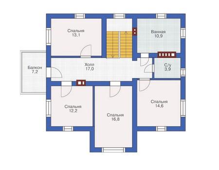 Проект кирпичного дома 71-58 план