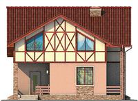 Проект кирпичного дома 71-62 фасад