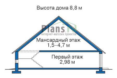 Проект кирпичного дома 71-62 план