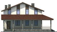 Проект кирпичного дома 71-64 фасад