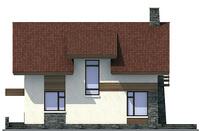 Проект кирпичного дома 71-68 фасад
