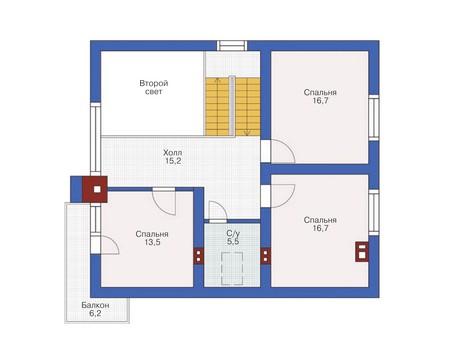 Проект кирпичного дома 71-68 план