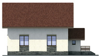 Проект кирпичного дома 71-69 фасад