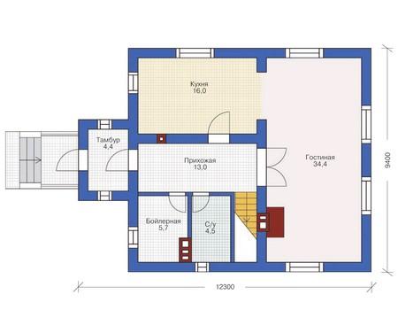 Проект кирпичного дома 71-69 план