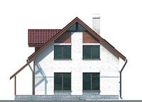 Проект кирпичного дома 71-72 фасад