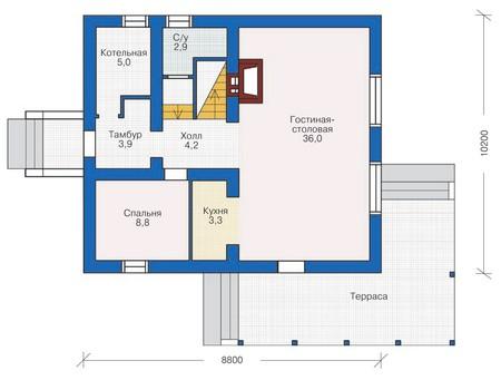 Проект кирпичного дома 71-72 план