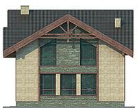Проект кирпичного дома 71-73 фасад