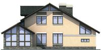 Проект кирпичного дома 71-74 фасад
