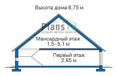 Проект кирпичного дома 71-74 план