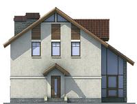 Проект кирпичного дома 71-75 фасад