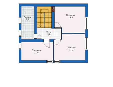 Проект кирпичного дома 71-75 план