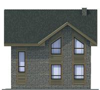 Проект кирпичного дома 71-76 фасад