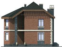 Проект кирпичного дома 71-77 фасад