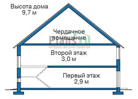 Проект кирпичного дома 71-77 план