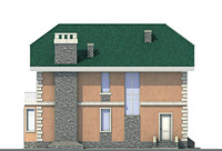 Проект кирпичного дома 71-78 фасад