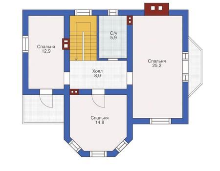 Проект кирпичного дома 71-78 план
