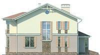 Проект кирпичного дома 71-81 фасад