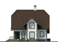Проект кирпичного дома 71-82 фасад