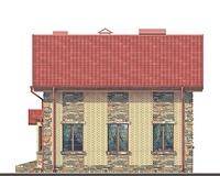 Проект кирпичного дома 71-83 фасад