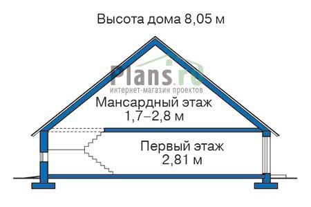 Проект кирпичного дома 71-83 план