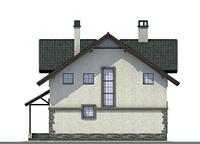 Проект кирпичного дома 71-84 фасад