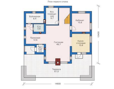 Проект кирпичного дома 71-85 план
