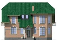 Проект кирпичного дома 71-86 фасад