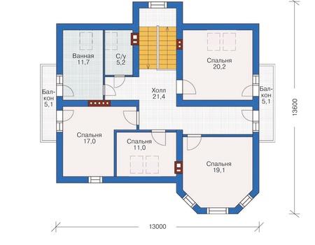 Проект кирпичного дома 71-86 план