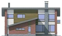 Проект кирпичного дома 71-87 фасад