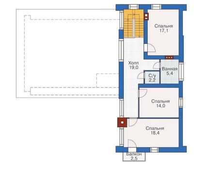 Проект кирпичного дома 71-87 план