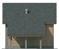 Проект кирпичного дома 71-88 фасад