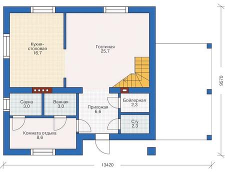 Проект кирпичного дома 71-88 план
