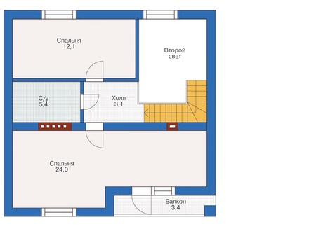 Проект кирпичного дома 71-89 план