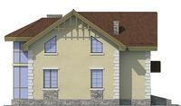 Проект кирпичного дома 71-91 фасад
