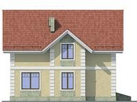 Проект кирпичного дома 71-93 фасад