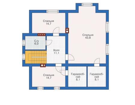 Проект кирпичного дома 71-95 план