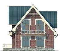 Проект кирпичного дома 71-96 фасад